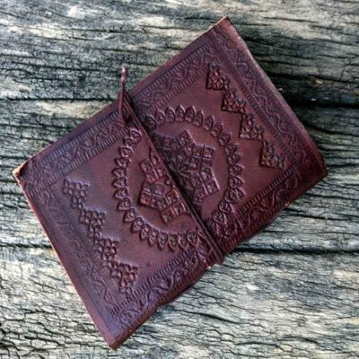 Leather writing book