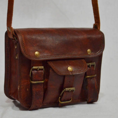 leather bag pocket handle