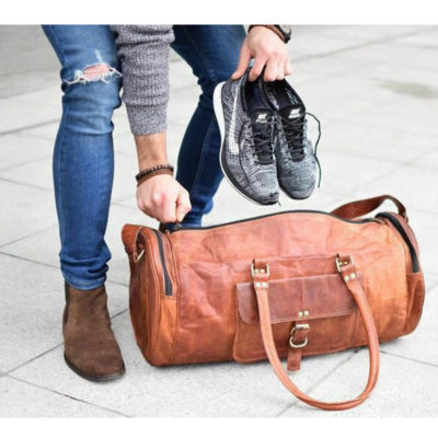 Men Leather Duffel Bag